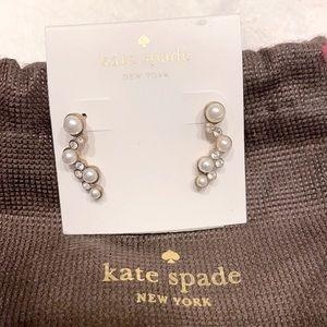 NWT Kate Spade cluster pearl earrings. Never worn!